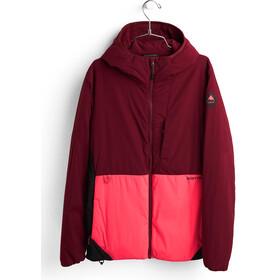 Burton Multipath Isoleret jakke med hætte Damer, rød/sort